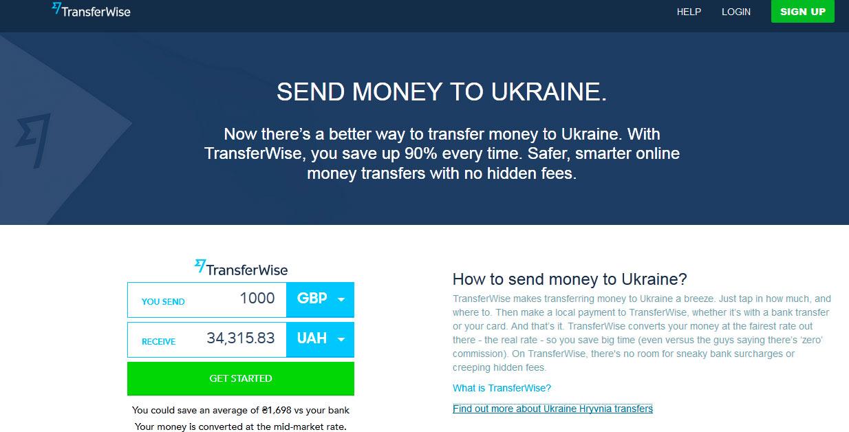 Сайт TransferWise